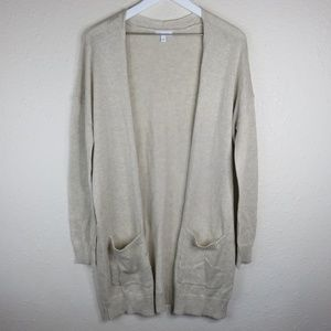 Abound Cardigan Duster Beige Sweater NWT